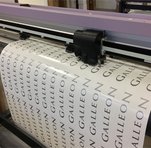 An image showing a roll of pre-spaced lettering.